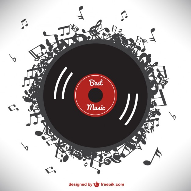 Music Vectors: Vinyl notes