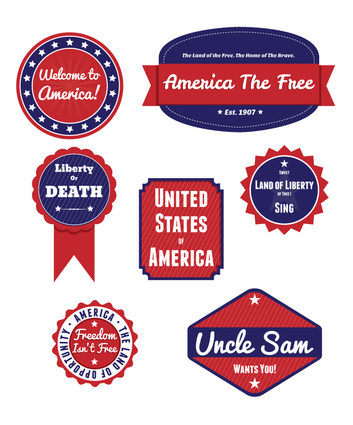 Free Patriot Badges