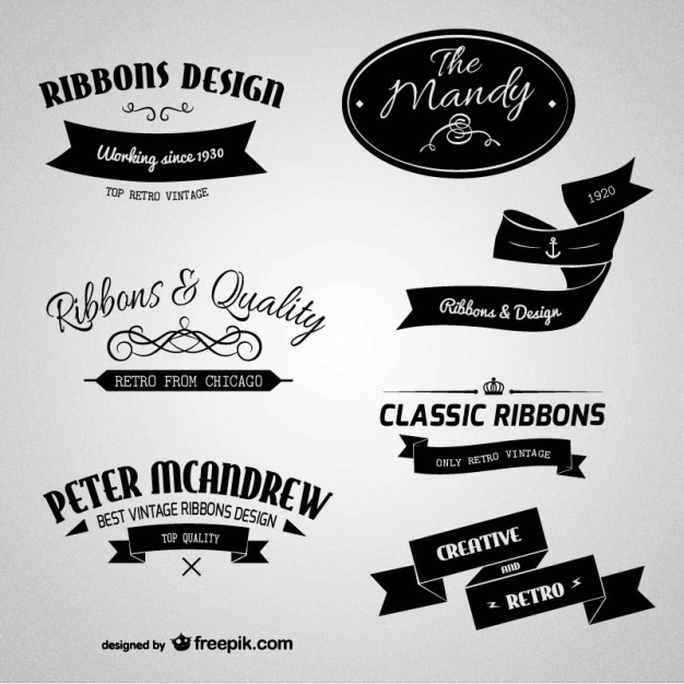 Vintage Badges and Elements:: labels