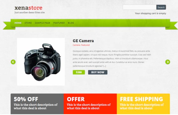 Xenastore: Responsive WordPress E-Commerce Themes