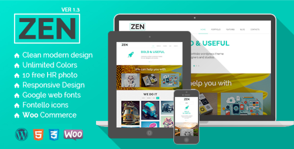 Zen: Responsive WordPress E-Commerce Themes