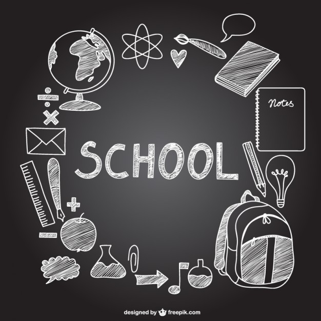 vector-school-icons-on-chalkboard_23-2147496282