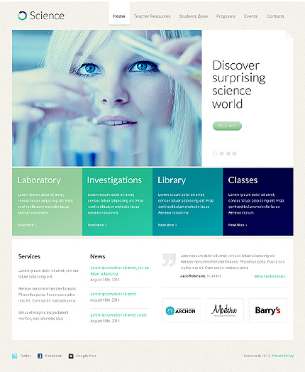 Science WordPress Theme