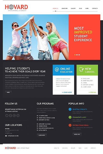 Flat University WordPress Theme