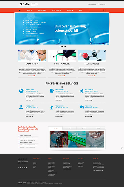 Professional Researches WordPress Theme