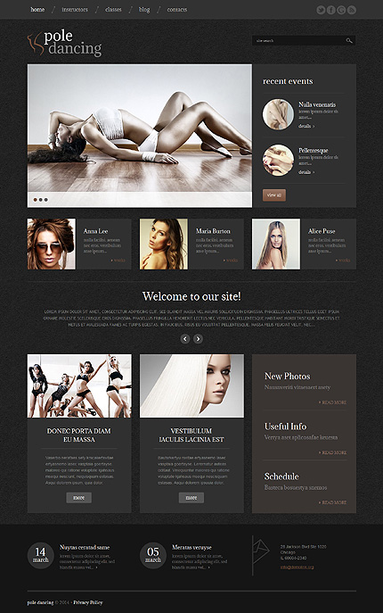 Dance Studio WordPress Theme