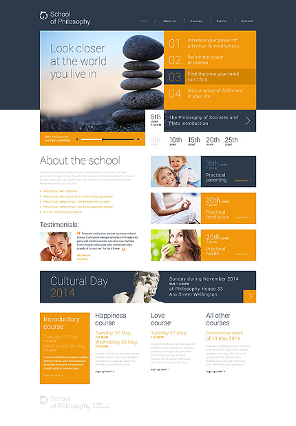 School of Philosophy WordPress Theme